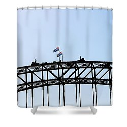 Shower Curtain featuring the photograph Bridge Walk by Stephen Mitchell