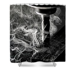 End Mill Shower Curtain