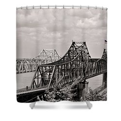 Bridges At Vicksburg Mississippi Shower Curtain by Don Spenner