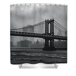 Bridges In The Storm Shower Curtain