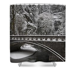 Bridges Of Multnomah Falls Shower Curtain by Wes and Dotty Weber