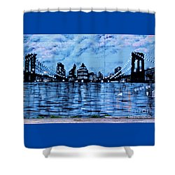 Bridges To New York Shower Curtain