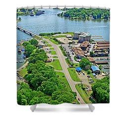 Bridgewater Plaza Aerial Shower Curtain
