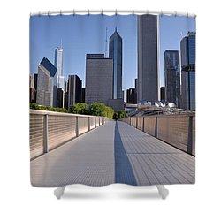 Bridgeway To Chicago Shower Curtain by Steve Gadomski