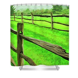 Bridle Trail Shower Curtain