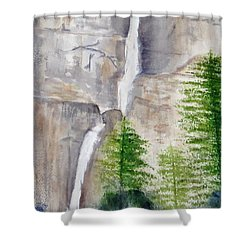 Bridal Veil Waterfall Shower Curtain