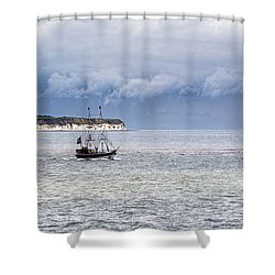 Bridlington Pirate Ship Shower Curtain