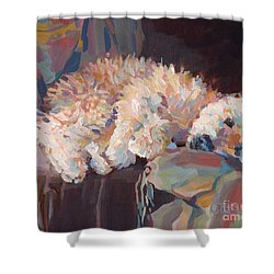 Brie As Odalisque Shower Curtain by Kimberly Santini