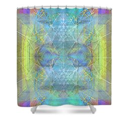Bright Chalice Ancient Symbol Tapestry Shower Curtain