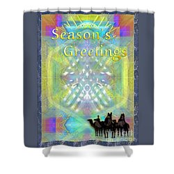 Bright Chalice Tree N 3 Kings Shower Curtain