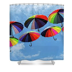 Bright Colorful Umbrellas  Shower Curtain