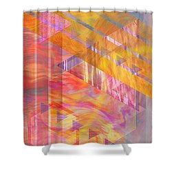 Bright Dawn Shower Curtain by John Beck