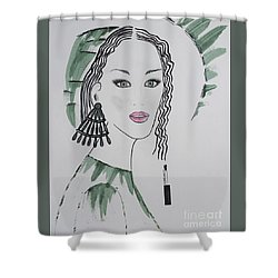 Bright Lady Shower Curtain