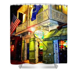 Shower Curtain featuring the photograph Bright Lights In The French Quarter by Glenn McCarthy Art and Photography