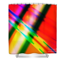 Bright Lines Shower Curtain