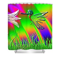 Bright Little Bird Shower Curtain by Kevin Caudill