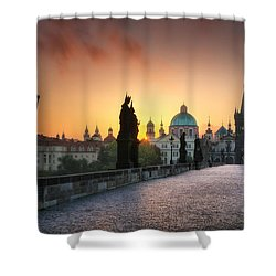 Bright Morning In Prague, Czech Republic Shower Curtain
