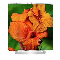Bright Orange  Shower Curtain