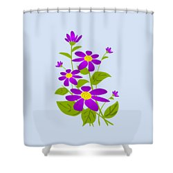 Bright Purple Shower Curtain by Anastasiya Malakhova