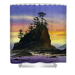 Bright Seacoast Sunset Shower Curtain by James Williamson