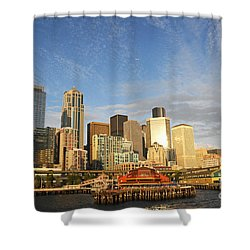 Bright Skies Over Seattle Shower Curtain