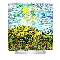 Bright Sky Summer - Field In Boulder County Colorado Shower Curtain