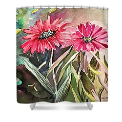 Bright Spring Daisies Shower Curtain