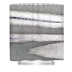 Bright Sun On The Ice  Shower Curtain by Lyle Crump