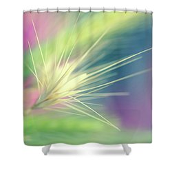 Bright Weed Shower Curtain by Terry Davis
