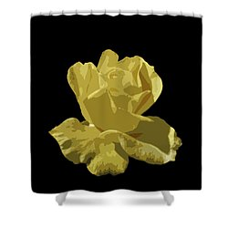 Bright Yellow Beauty Shower Curtain by Laurel Powell