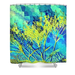 Brighter Day Shower Curtain by Shawna Rowe
