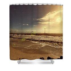 Brighton Beach Pier Shower Curtain by Douglas Barnard