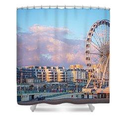 Brighton Ferris Wheel Shower Curtain