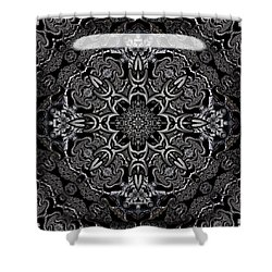Shower Curtain featuring the digital art Brighton by Robert Orinski