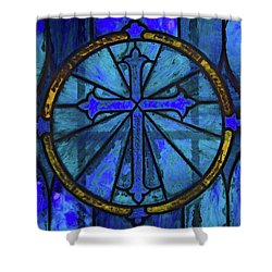 Brillant Blue Shower Curtain