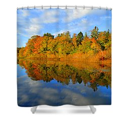 Brilliance Of Autumn Shower Curtain by Dianne Cowen