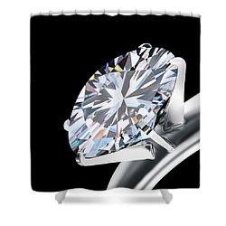 Brilliant Cut Diamond Shower Curtain
