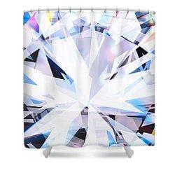 Brilliant Diamond  Shower Curtain by Setsiri Silapasuwanchai