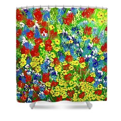 Brilliant Florals Shower Curtain by George Riney