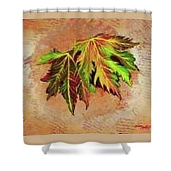 Brilliant Is The Color Of Autumn  Shower Curtain by Talisa Hartley