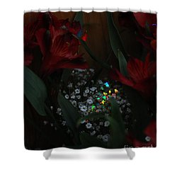 Shower Curtain featuring the photograph Brilliantly Shy by Marie Neder