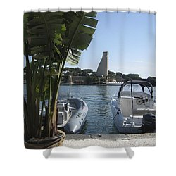 Brindisi By The Sea In May Shower Curtain