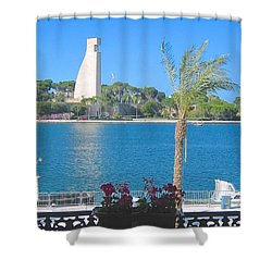 Brindisi By The Sea Shower Curtain
