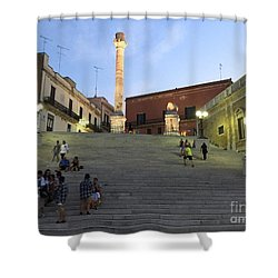 Brindisi Colonne Appian Way Shower Curtain