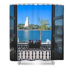 Brindisi Monumento Al Marinaio Shower Curtain