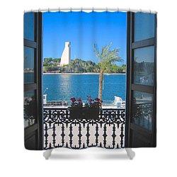 Brindisi Monumento Al Marinaio Shower Curtain