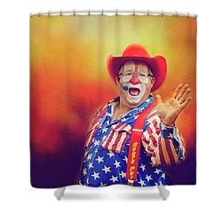 Bringing Fun To The Rodeo Greek Ellick Jr.  Shower Curtain by Toni Hopper