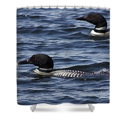Bringing Home Dinner Shower Curtain
