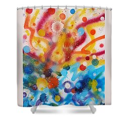Bringing Life Spray Painting  Shower Curtain