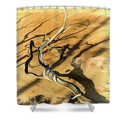 Brins Mesa 07-100 Burnt Shower Curtain by Scott McAllister